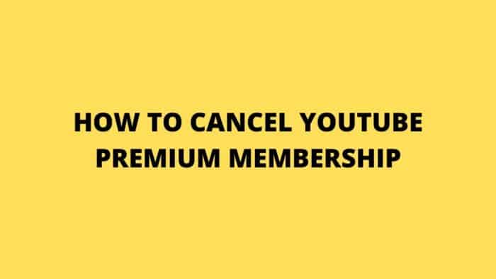 YOUTUBE PREMIUM MEMBERSHIP
