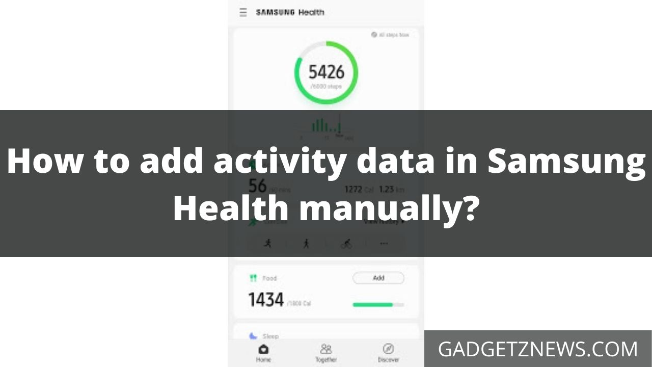 add activity data in Samsung Health